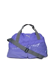 Puma Women Purple Gym Sports Duffle Bag