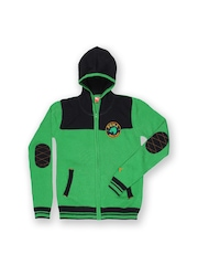 Puma Boys Green & Black Sweater