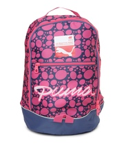 Puma Girls Pink & Blue Printed Special Backpack