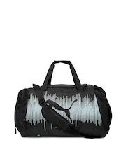 Puma Unisex Black Echo Sports Duffle Bag