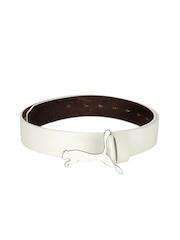 Puma Unisex White Cat Belt