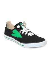 Puma Unisex Black & Green Limnos Cat Casual Shoes
