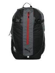 Puma Unisex Black & Grey Apex Backpack