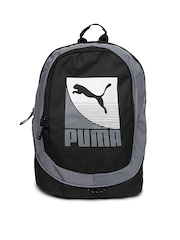 Puma Unisex Black & Grey Echo Backpack