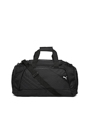 Puma Unisex Black Duffle Bag