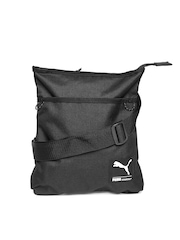 Puma Unisex Black Foundation Flat Portable Sling Bag