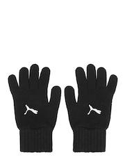 Puma Unisex Black Fundamentals Knit Gloves