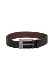 Puma Unisex Black Leather Belt