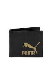 Puma Men Black Originals Billfold Wallet