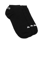 Puma Unisex Pack of 3 Black Invisible Sneakers Socks