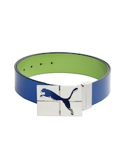 Puma Men Blue & Green Reversible Carve Belt