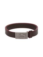 Puma Unisex Brown Leather Belt