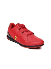 Puma Kids Red Valorosso SF Jr Sports Shoes
