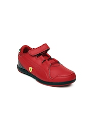 Puma Kids Red Valorosso SF V Sports Shoes