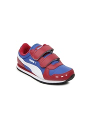 Puma Kids Red Cabana Velcro Jr DP Casual Shoes