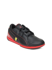 Puma Kids Black Valorosso SF Jr Sports Shoes