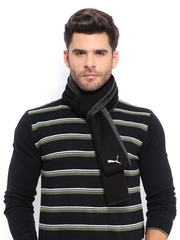 Puma Unisex Black & Grey Fundamentals Scarf