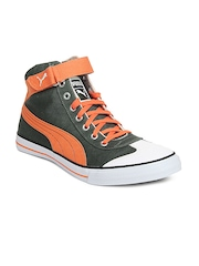 Puma Unisex Dark Grey & Orange 917 Mid 2.0 Ind. Casual Shoes