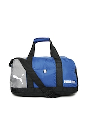 Puma Unisex Blue Fundamentals Sports Duffle Bag