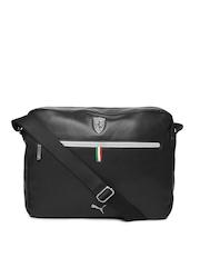 Puma Unisex Black Ferrari LS Reporter Messenger Bag