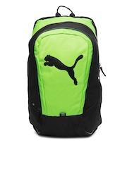 Puma Unisex Green & Black Big Cat Backpack