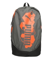 Puma Unisex Grey & Black Pioneer Backpack