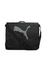 Puma Unisex Black Messenger Bag