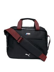 Puma Unisex Black BMW M Collection Work Messenger Bag