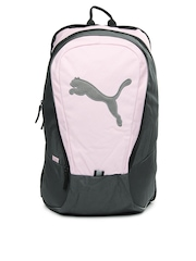 Puma Women Pink & Grey Big Cat Backpack