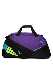 Puma Unisex Purple & Black evoSPEED Duffle Bag