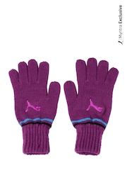 Puma Unisex Purple Fundamentals Knit Gloves