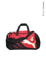 Puma Unisex Red & Black Duffle Bag