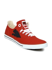 Puma Unisex Red & Black Limnos Cat Casual Shoes