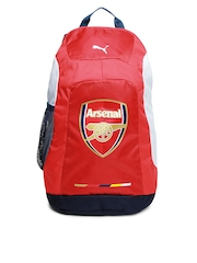 Puma Unisex Red & White Arsenal Graphic Backpack