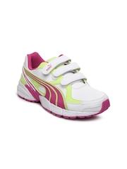 Puma Kids White Axis 2 SL V Jr Sports Shoes