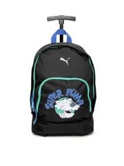 Puma Kids Black Primary Wheel Trolley Bag