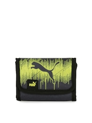 Puma Unisex Navy Blue & Yellow Echo Wallet
