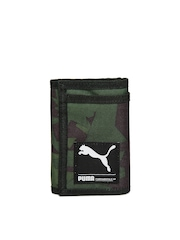 Puma Unisex Olive & Brown Foundation Wallet