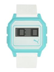 Puma Unisex White & Blue Digital Watch