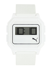 Puma Unisex White Digital Watch