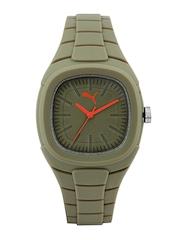 Puma Unisex Olive Green Dial Watch