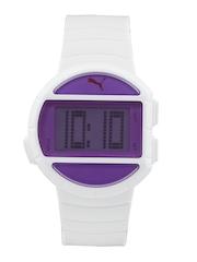 Puma Unisex White Digital Watch