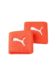 Puma Unisex Pack of 2 Orange Wristbands