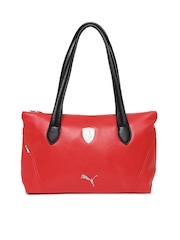 Puma Red & Black Ferrari LS Shoulder Bag