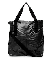 Puma Black Oversized Gym Lux Shopper Handbag