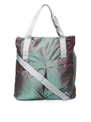 Puma Women Grey Gym Lux Shopper Oversized Shoulder Bag