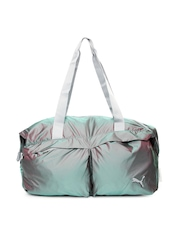 Puma Women Grey Gym Lux Workout Duffle Bag