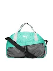 Puma Women Green Gym Sports Duffle Bag