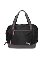 Puma Women Black Fitness Workout Duffle Bag