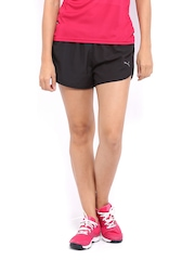 Puma Women Black Running Shorts
